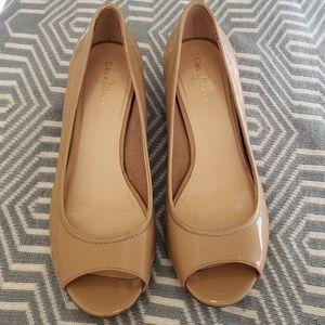 Cole Haan Nude Patent Wedges Heels